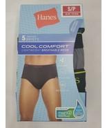 "Hanes Mens 5 Pair Tagless Cool Comfort Briefs Underwear FreshIQ S/P 28""-... - $10.59"