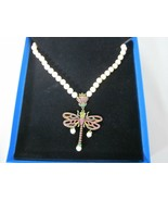 Heidi Daus Dragonfly Swarovski Crystal And Faux Pearl Necklace - $89.10