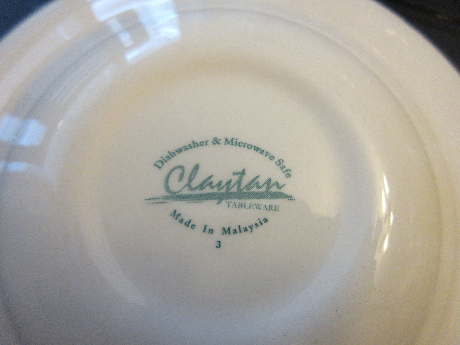 ... Claytan Tableware made in Malaysia Blue and White ... & Claytan Tableware made in Malaysia Blue and and 11 similar items