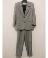 CHARLES GLUECK Womens Lined Pant Suit Size 8 Blazer & Pants Black/White ... - $34.65