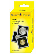 Guardhouse Tetra Snaplock Coin Holders,  20 Dollar Gold, 2x2, 10 pack - $8.99