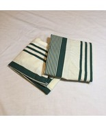2 Standard Pillow Shams Green White Striped Ralph Lauren 100% Combed Cot... - $29.02