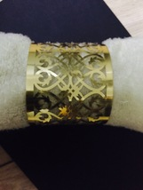 120pcs Napkin Rings,Metallic Paper Gold Towel Wrappers,Wedding Party Dec... - $40.80