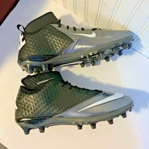 Nike Mens Sz 17 Football Cleats black white Lunarlon Superbad Pro 511334-009 - $28.18