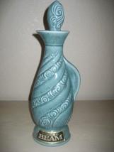 Vintage 1966 Beam's Turquoise China Jug 4-5th Quart Decanter Genuine Reg... - $10.84