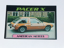 1976 topps cars 1977 #1 American motors pacer x car card vgex condition - $7.36