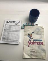 Vintage Disney Mickey Mouse Yahtzee 5 Dice Die 1988  Parts  2 Pads Direc... - $14.85