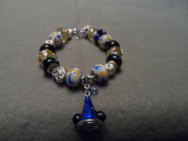 Authentic Pandora bracelet with Disney Mickey Sorcerer's Hat Theme - $82.00