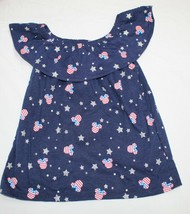 New Girls Baby Toddler Disney Minnie Mouse USA Print Shirt 12M thru 5T 4... - $7.99