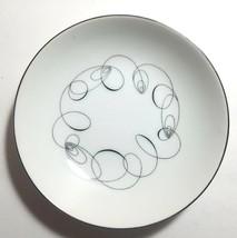 Berry Bowls Set of 8 Meito TEMPO Fruit Sauce Dessert Spirals Black & White  - $22.24