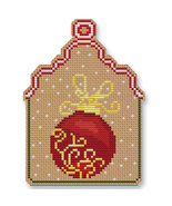 Christmas Ball Ornament Kit cross stitch Colonial Needle  - $13.50