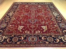 9 x 12 CW 902 Hand Knotted Serapi Hariz Traditional Design Rug 100 Perce... - $1,619.10