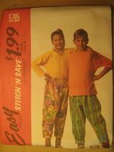 UNCUT Pattern 1992 EASY McCall's SIZE B 10 12 14 GIRLS BOYS Top PANTS 57... - $3.99
