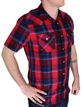 BRAND NEW LEVI'S MEN'S CLASSIC COTTON CASUAL BUTTON UP PLAID SHIRT 3LYSW6062-RED image 2