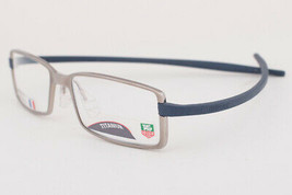 Tag Heuer 3703 Reflex Satin Blue Gray Titanium Eyeglasses 3703-005 54mm - $234.22