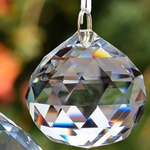 Aglife 4 Pcs Sun Catcher Clear Crystal Ball Christmas Balls 50mm 2 inch,4 PCS+Ha