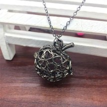 APPLE HEART AROMA DIFFUSER LOCKET NECKLACE >> COMBINED SHIPPING <<   - $4.70