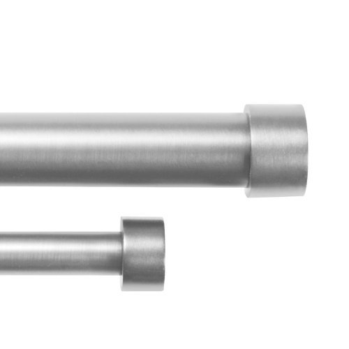 Umbra Cappa Double Curtain Rod 1 1 4 Inch Front And 3 4