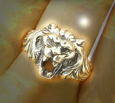 HAUNTED ANTIQUE RING 9000x CONQUER ANYTHING EXTREME MAGICK ILLUMINATED W... - $337.77