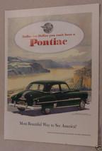Magazine Ad Announcing The 1951 Pontiac Sedan - $5.93