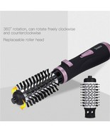 2 In 1 Rotating Brush Hot Air Styler Comb Curling Iron Roll Styling Brus... - $41.58+