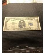1953 $5. Silver Certificate Star Note  - $39.00