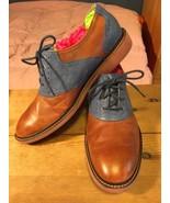 Cole Haan Air Colton Blue & Brown Men's Oxford Saddle Shoes Size 10 M - $82.05