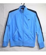 Nike mens jacket active wear sports gym casual zipper blue size LG - $33.89