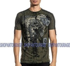 Affliction Wheel And Destroy A20228 Short Sleeve Fashion Graphic T-shirt For Men - $60.47