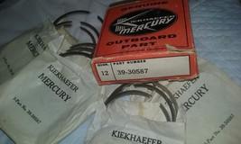 Kiekhaefer Mercury Genuine OEM Outboard Piston 12 Ring Set Part 39-30587 NOS - $15.32