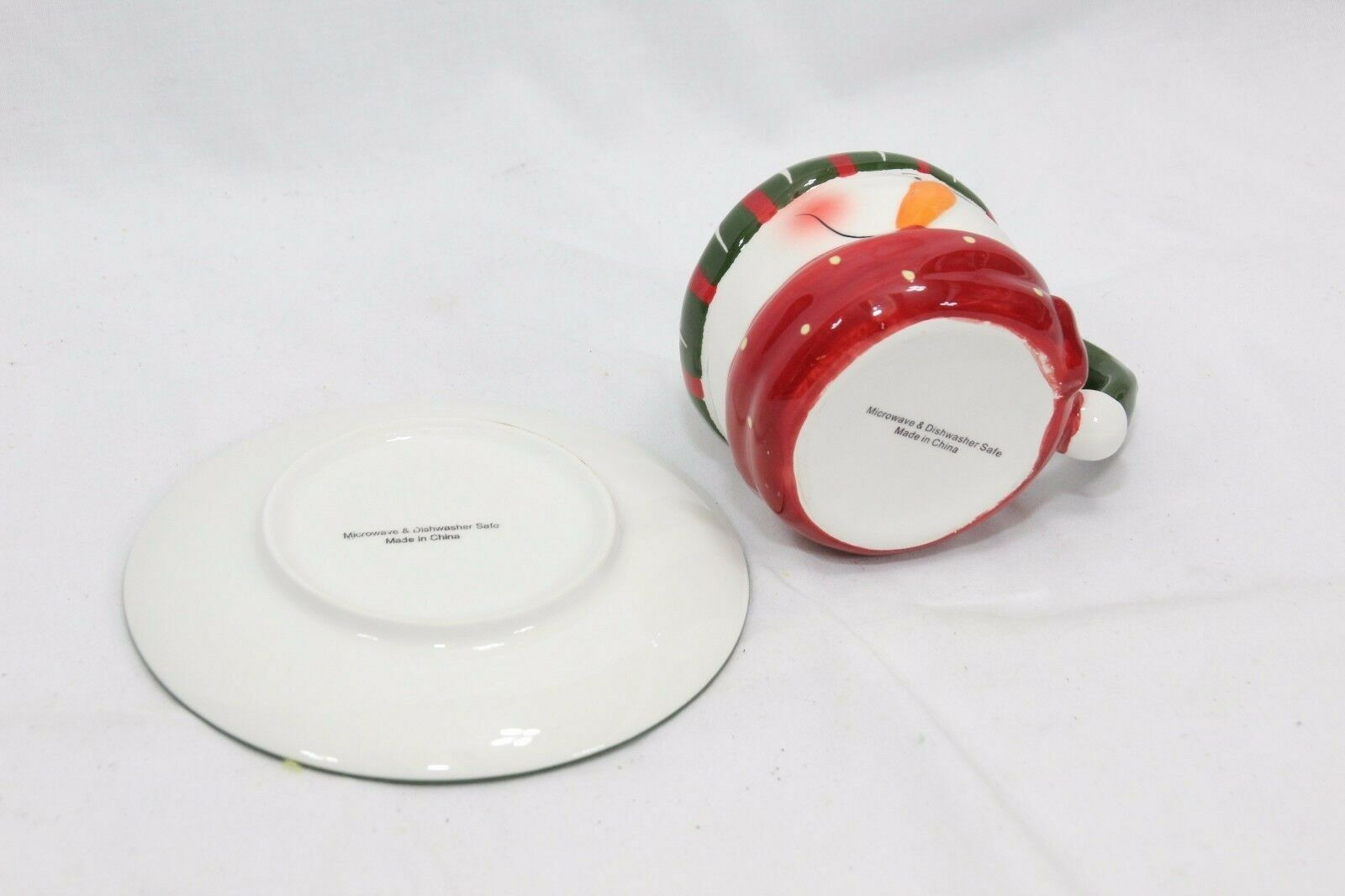 Snowman Xmas 4 Cups and 4 Saucers image 10