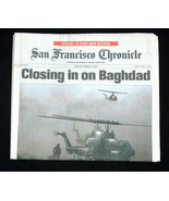 WAR San Francisco Chronicle March 23 2003 Closing In On Baghdad Iraq New... - $39.58