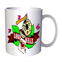 Love Kills Skull Birds Heart Blood  11oz Mug y678 - $10.83