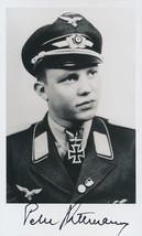 Peter Duttman signed photo. Luftwaffe Ace. 152 kills. 5./JG-52. - $38.00