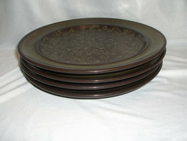 4 Vintage Dinner Plates Franciscan China Pottery Brown Madeira Californi... - $64.35
