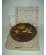 Edwin Knowles Norman Rockwell Father's Help Plate w Box COA 1983 - $18.99