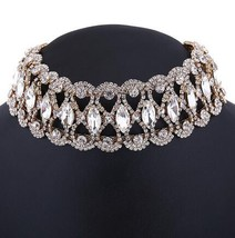 Rhinestone Choker Necklace 2017 Statement Necklaces For Women Big Fashio... - $23.59