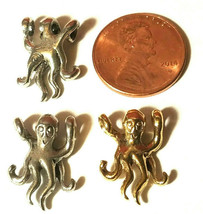 Octopus Cord Hugger Fine Pewter Pendant Charm 13x18x5mm image 2