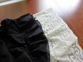 half slip, women's slip, lace slip, vintage lace slip white half slip, u... - $29.91