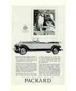 Collie Dog 1927 Packard Convertible Auto Car AD - $14.99
