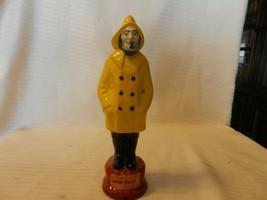 Captain John Old Fisherman in Yellow Raincoat and Black Boots Ceramic Fi... - $49.50