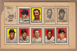 LOT OF 7: 1962 Topps stamps Cleveland Indians on album page Jim Perry - $7.95