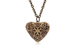 New Hollow Heart-Shaped Photo Locket Necklace - $13.49