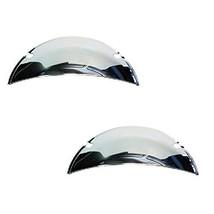 "Octane Lighting 7"" Chrome Steel Metal Half Moon Shields Covers Headlight... - $9.85"