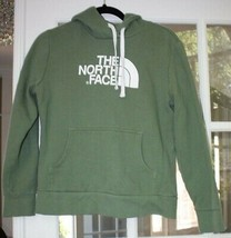 Olive Green Women's Size Medium North Face Hoodie w/ White Lettering & Logo - $26.99