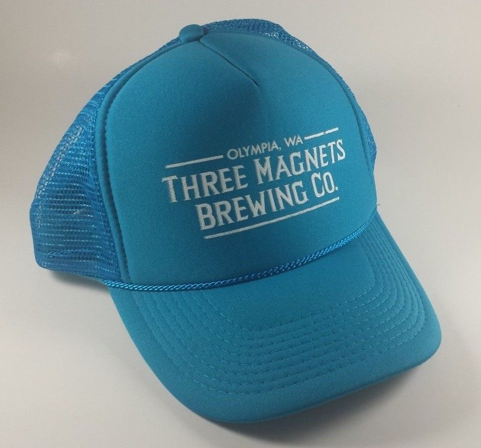 26664752ed 57. 57. Previous. OTTO Collection Olympia WA Three Magnets Brewing Co Blue  Mesh Trucker Hat Cap