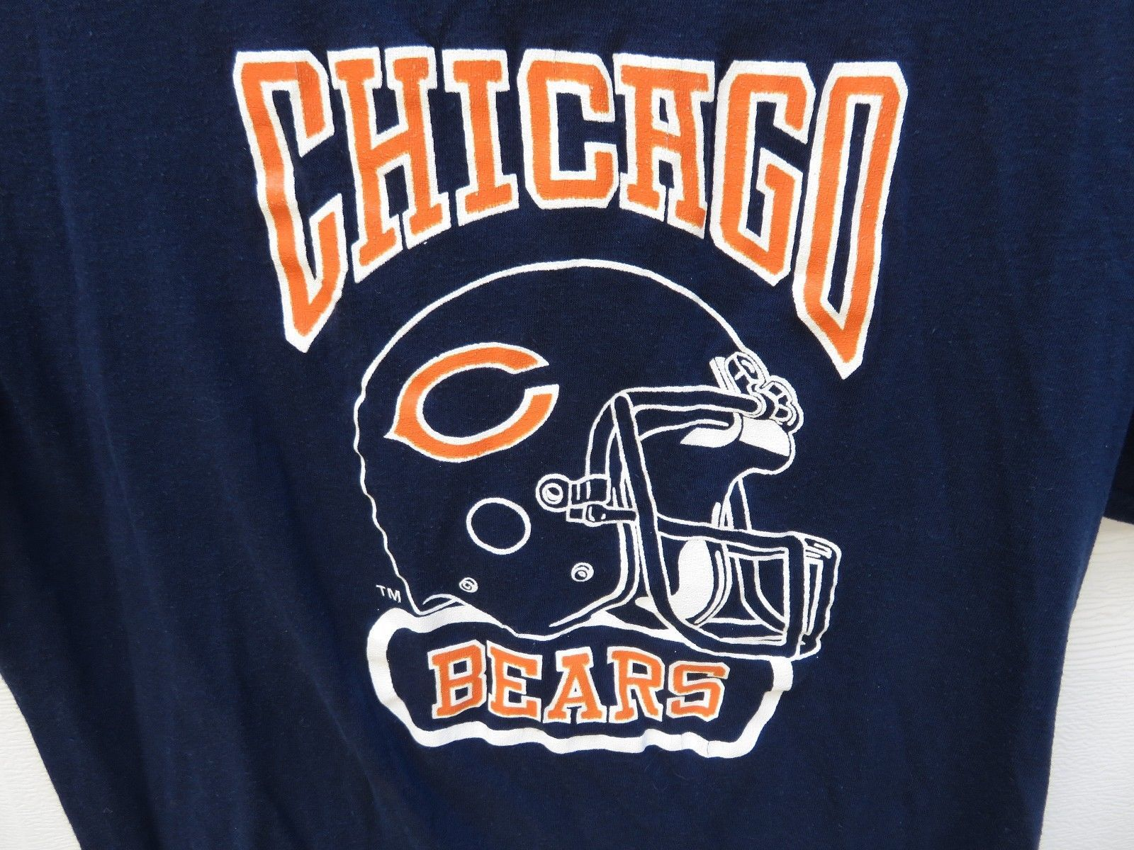 new style 8206b 3f44b Vintage Chicago Bears S T-Shirt 70 s 80 s Logo 7 Sz. Large NFL Football