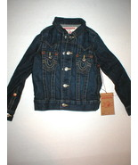 New Boys Girls NWT S True Religion Designer Jean Jacket Dark Jimmy Weste... - $79.20