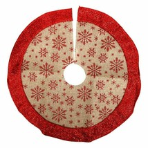 Christmas Christmas Tree Skirt, 18 in. Snowflakes w - $6.99