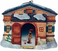 Hummel Christmas ornament figurine goebel Bavarian Bradford tending gees... - $29.65